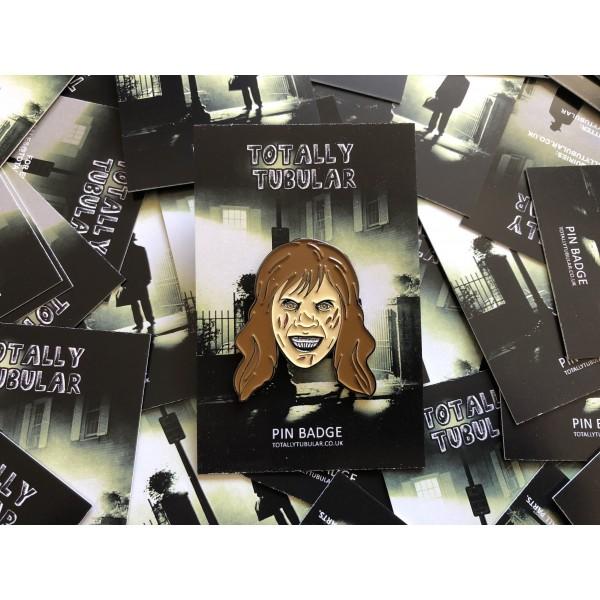 POKEMON x BATMAN COMIC BOOK STYLED JASTLY (GASTLY AND THE JOKER) ENAMEL METAL PIN BADGE